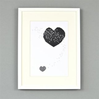 Ingrid Petrie Design  A4 poster(Heart Swoop )