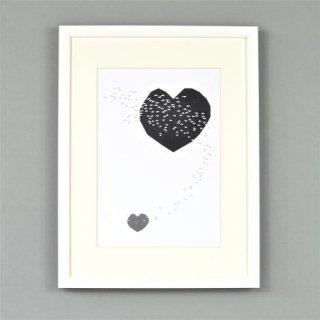 Ingrid Petrie Design  A4 poster(Heart Swoop )