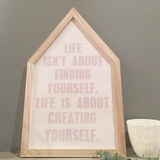 Blooming ville house frame with letters